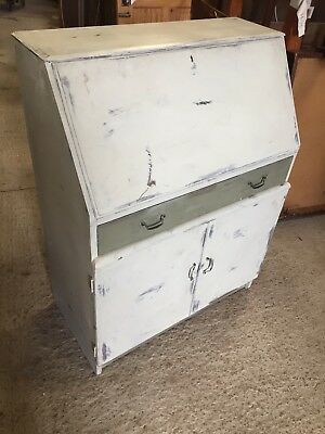 Vintage Writing Bureau Bureaux Home Office Badly Painted  21/1/F