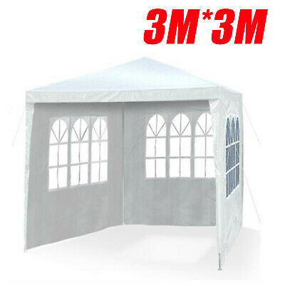 New 3mx3m 120g Waterproof Outdoor PE Garden Gazebo Marquee Canopy Party Tent