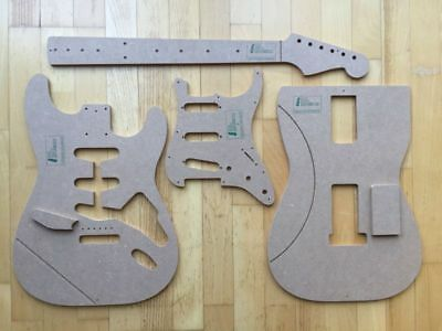 60s Strat Templates for Guitar Building f.e. Fender Stratocaster Repair