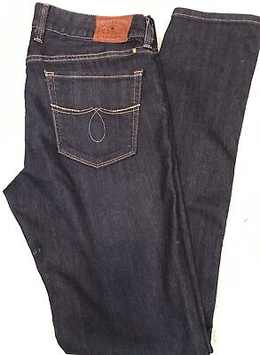 e971985f957 Lucky Brand Size 14/32 Lola Boot Cut Blue Jeans Denim ALTERED To STRAIGHT  LEG