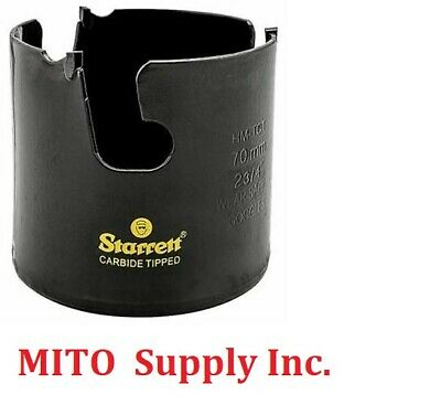 """New Starrett MPH0234  Carbide Tipped Hole Saw 2-3/4""""- 70MM - Free Shipping"""