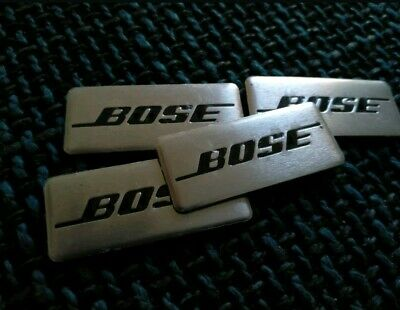 4 Logo BOSE badge Sticker haut-parleur AUTOCOLLANT BMW Mini Mercedes Audi