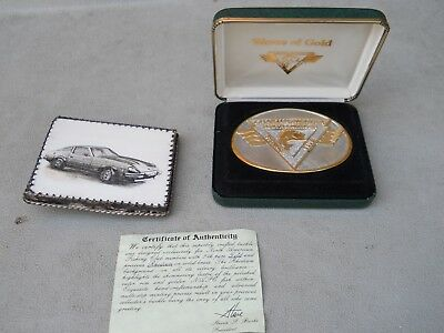 Lot 2 Waves of Gold North American Fishing Club Belt Buckle W/Coa/Case Clark Car