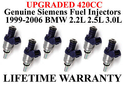 6x OEM UPGRADE SIEMENS fuel injectors for  BMW Z3 Z4 X5 530i 330i 3.0L V6