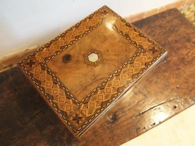 Tunbridge Ware writing box or slope Victorian c1860