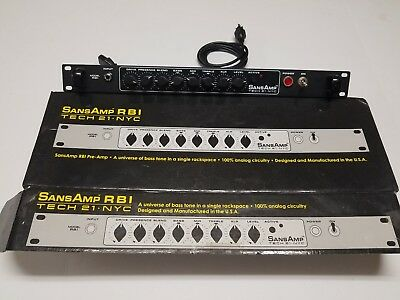 Tech21 NYC SansAmp Preamp and Guitar Amp Rack Excellent condition