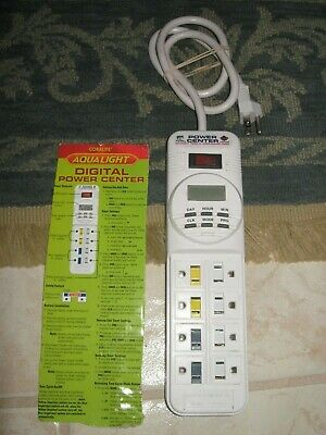 Coralife Digital Power Center 8 Outlet Power Strip 4 Timer Controlled Outlets