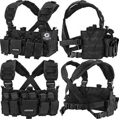 Survival Tactical Vests Combat Harness Radio Chest Rig Vest Hunting