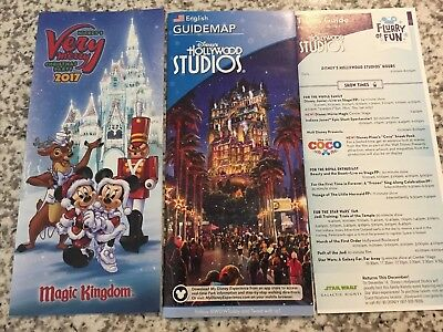 Walt Disney World 2017 Mickey's Very Merry Christmas Party Guide Map & Bonus