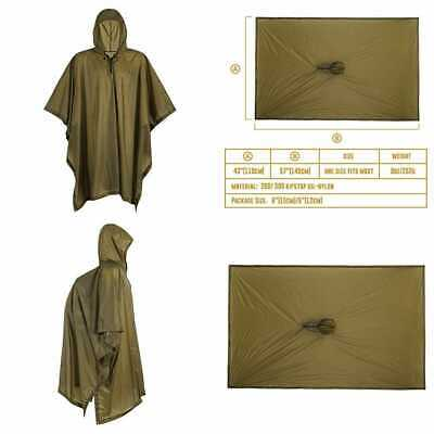 Onetigris Draconis Multicam Poncho Lightweight Military Style Raincoat Ripstop R