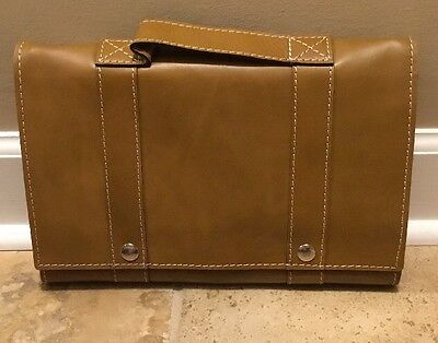 NEW Pottery Barn Beckett Leather Travel Hanging Toiletry Case