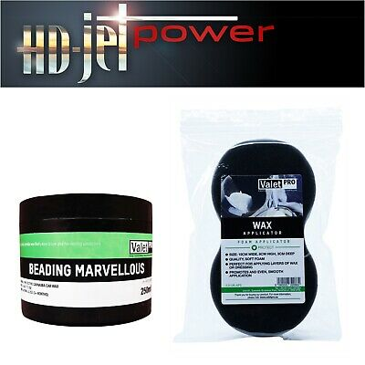 ValetPRO Beading Marvellous Cire Carnauba polissage + applicateur Wax