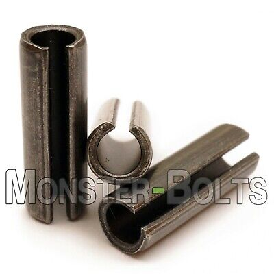 M2.5 Metric Spring Pins, Type Slotted Heavy Duty Carbon Steel, ISO 8752 - Bulk