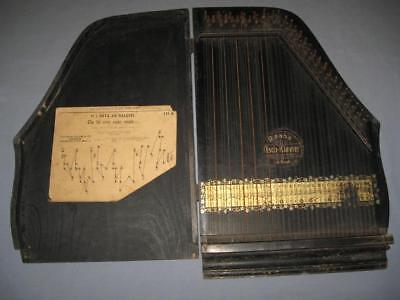 Antique Vintage Austrian Handmade Concert Harp Zither 19th Century !