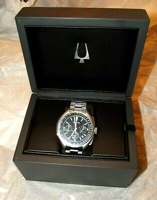 New Bulova Men's Lunar Pilot 96B258  Special Edition Apollo 15 Stainless Steel