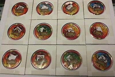 Lot of 28 Casino Chips from Fiesta Las Vegas Hotel & Casino