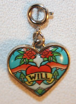 Disney Will Turner Heart Charm © Disney Pirates of the Caribbean Charm It
