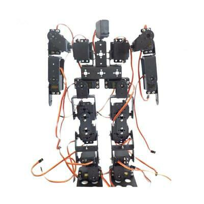 Full Metal 17 DOF 2 Foot Bipedal Walking Robot Bracket Kit with Servo Horn