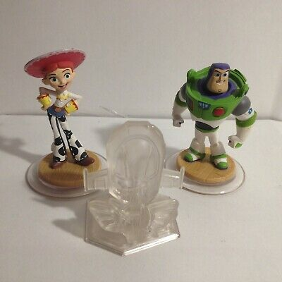 Disney Infinity Toy Story Character Figures Jesse & Buzz LightYear With Playset