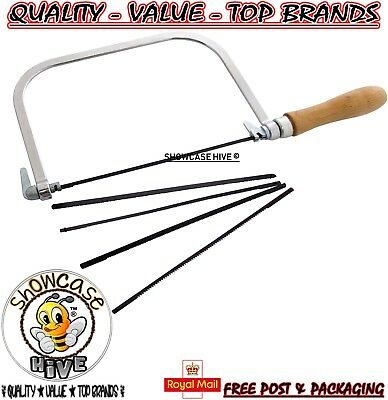 Wooden Handle Coping Saw With 5 Blades Hobbys Craft Woodwork