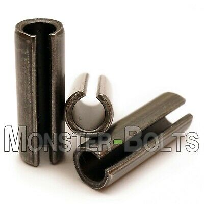 M4 Metric Spring Pins  Type, Slotted  Heavy Duty Carbon Steel, ISO 8752 - Bulk