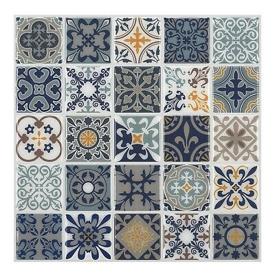 Tic Tac Tiles® Peel and Stick Self Adhesive Smart Backsplash in Moroccan Designs
