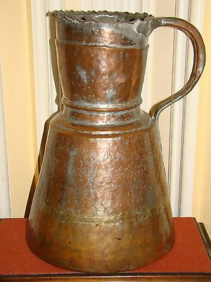 Antique Copper Handmade Hammered Persian/Arabic/Turkish/Islamic Water Pitcher