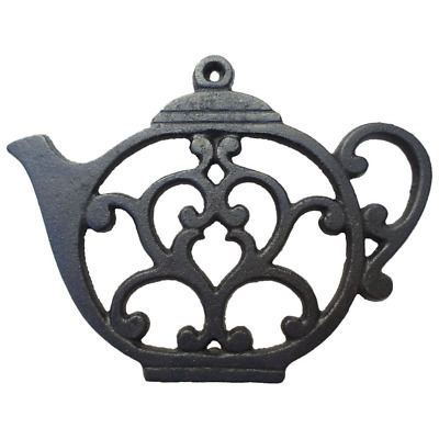 Teapot Trivet - Black Cast Iron - for Kitchen & Dining Table - More than One Mak