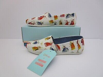 9e6125a5cbc Toms x Disney Womens Classic Natural Fairy Godmother Printed Canvas Size  7.5US