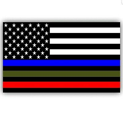 """Support our military police fire decal stickers premium, 5""""×3"""" Truck, Suv, cars"""
