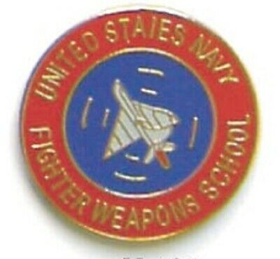 Military Hat Lapel Pin -  Us Navy Fighter Weapons School Pin - New