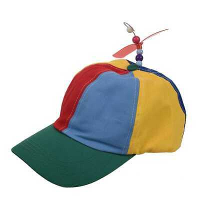 b5755bb7cce21 Adjustable Propeller Beanie Ball Cap Hat Multi-Color Clown Costume Accessory  BE