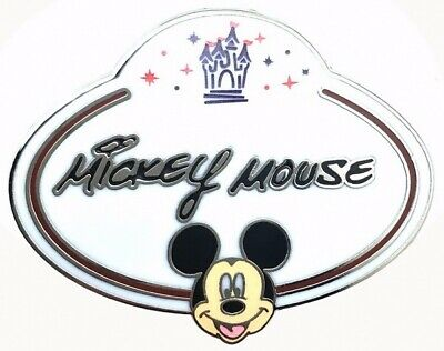 2010 Disney HKDL Name Tag Mystery Mickey Mouse Pin Rare