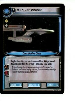 Star Trek 2E Ccg 12C118 U.s.s. Constitution These Are The Voyages 2007 Card