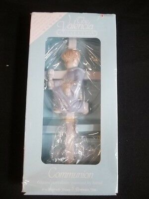 The Valencia Collection Communion Cross Hand Painted Porcelain Boy Kneeling