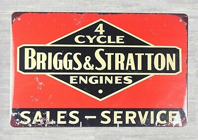 US Seller- Briggs Stratton engines garage tin metal sign old fashioned tin signs