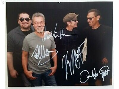 Eddie Van Halen David Lee Roth Band signed Autographed 8 x 11 Photo Reprint RP