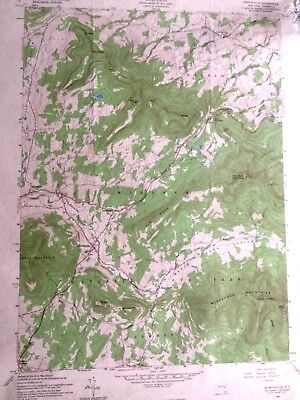 Vintage Topographical Map - Hensonville, N.Y. Greene Co. Army Corps of Engineers