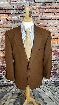 Brooks Brothers 1818 ITALY 45R 2 Button Brown Plaid TWEED WOOL Sport Coat Jacket