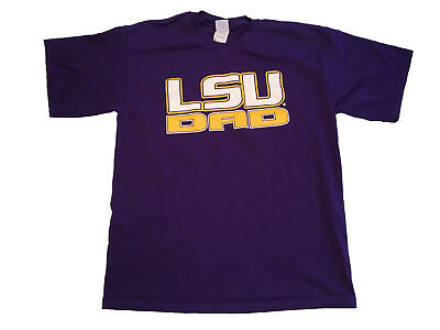 6cca0546 LSU Dad Shirt Louisiana State University Tigers Purple Shirt Adult L Large