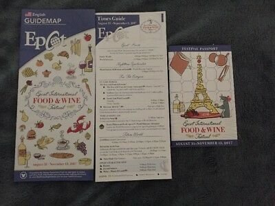 Walt Disney World Epcot  Food & Wine Festival Guide Map 2017 Opening Day With Bo