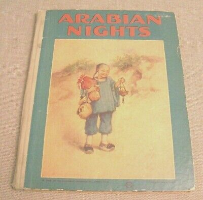 Arabian Nights - 1922 Vintage Illustrated Childrens Book - Ali Baba & Aladdin +