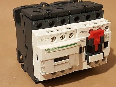 Schneider electric tesys lc2d12f7 3pole contactor  3no 12a 5.5kw 110v a.c. coil
