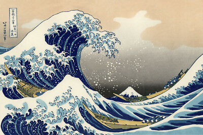 The Great Wave Off Kanagawa Katsu POSTER LAMINATED Art PRINT 610x910mm (24x36in)