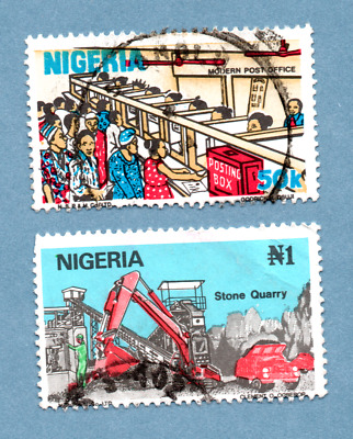 NIGERIA stamps 1986 Nigerian Life. 2 stamps