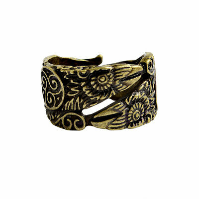 Viking Ring Odin's Raven Norse Celtic Bronze Crow Adjustable
