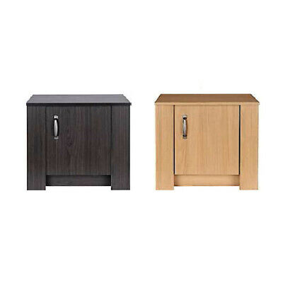 Hawley Bedside Table Stylish Bedroom Furniture Wessa Oak Finish Flat Pack