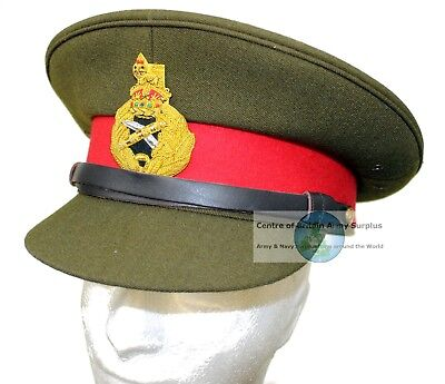 Genuine British Army Yorkshire Regiment Dress Hat with Badge And Chinstrap