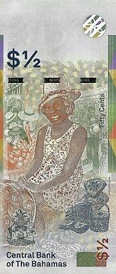 NUEVO BILLETE DE BAHAMAS 1/2 half Dollar Dolar 2019 Pick new