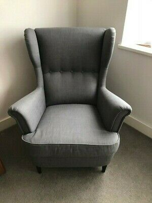 IKEA *Strandmon* Wing Arm Chair - Nordvalla Dark Grey - New Condition